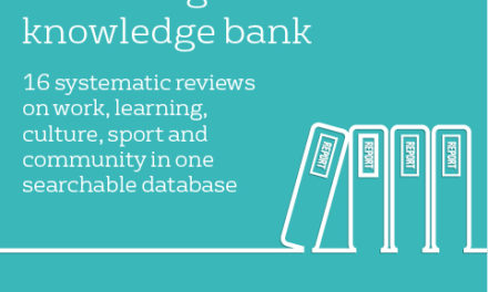 New wellbeing evidence knowledge bank