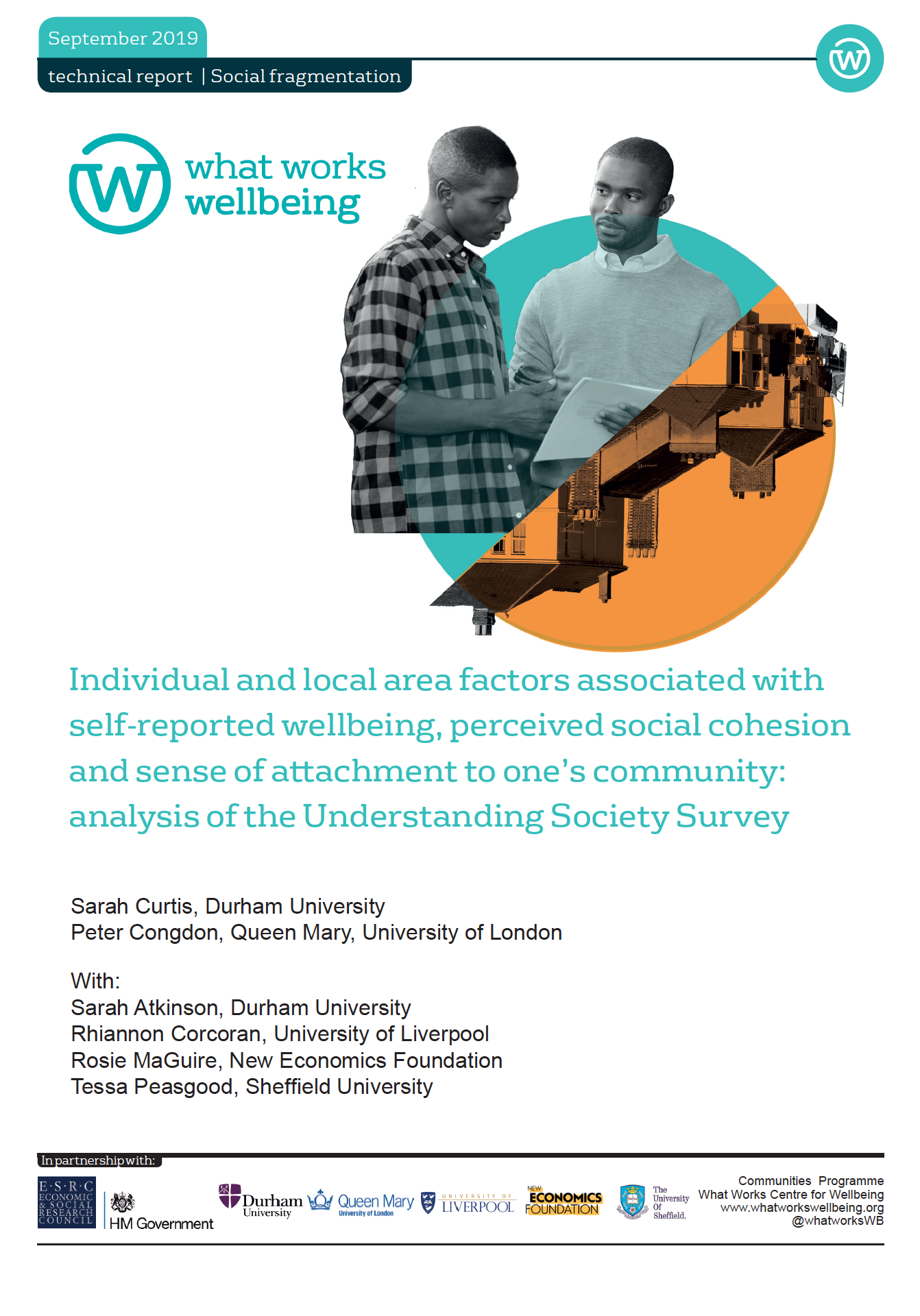 Social cohesion and community attachment: analysis of the Understanding Society Survey