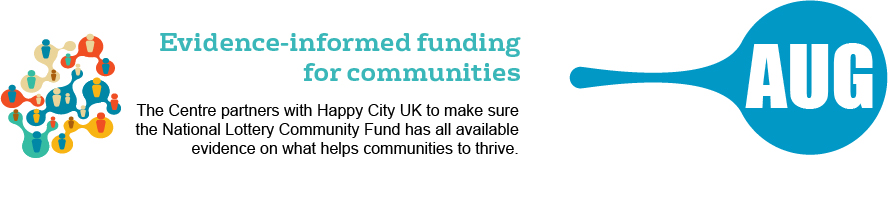 August - evidence-informed funding for communities