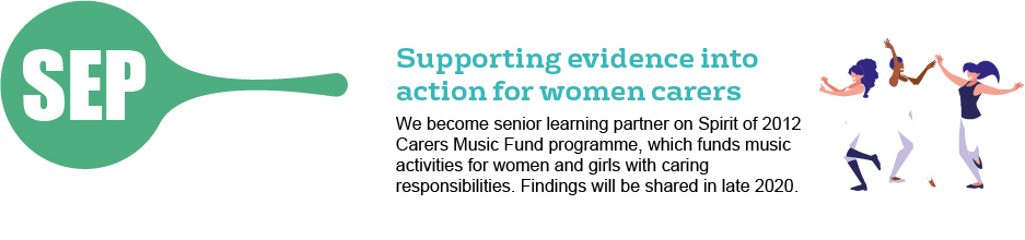 September - supporting evidence into action for women carers