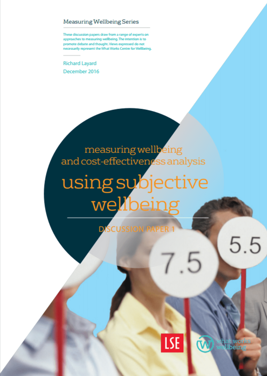 Measuring Wellbeing and cost-effectiveness analysis: discussion paper 1
