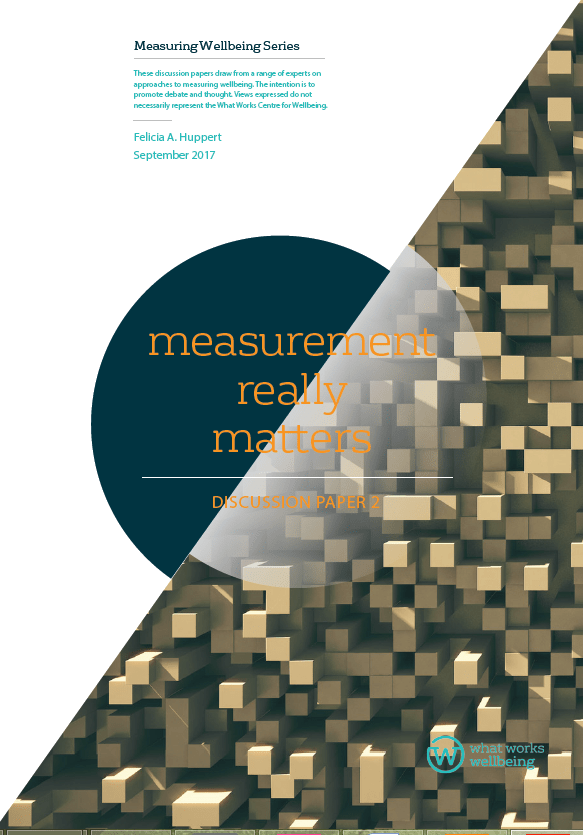Measurement really matters: discussion paper 2
