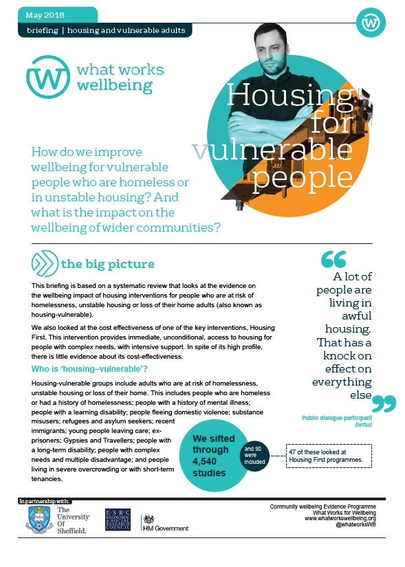 Housing for Vulnerable People