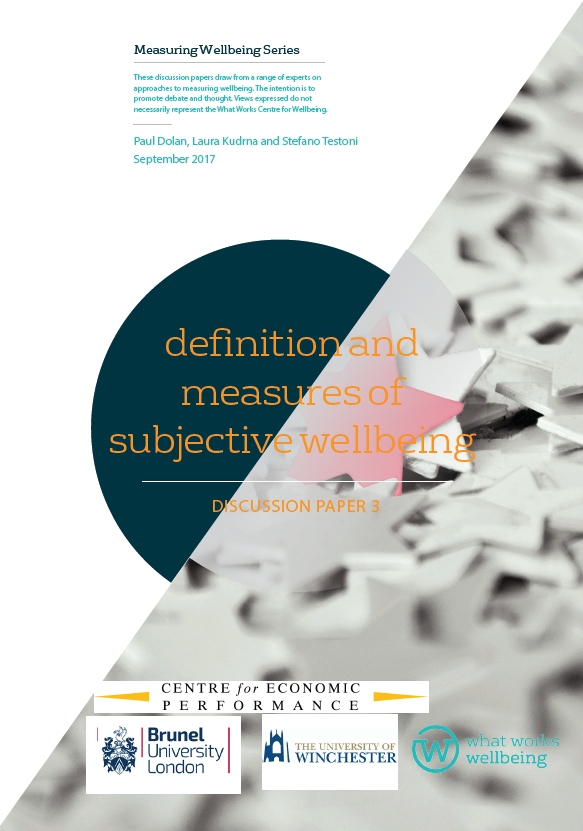 Definition and Measures of Subjective Wellbeing: Discussion paper 3