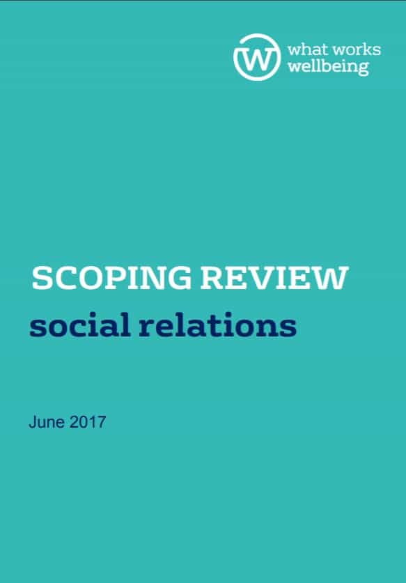 Social relations and wellbeing