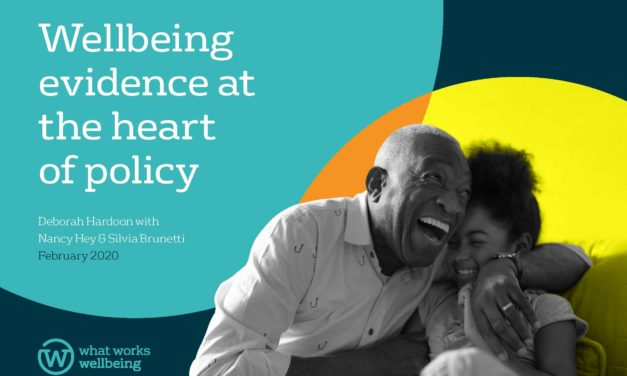 Wellbeing at the heart of policy: new report + three new data analysis projects