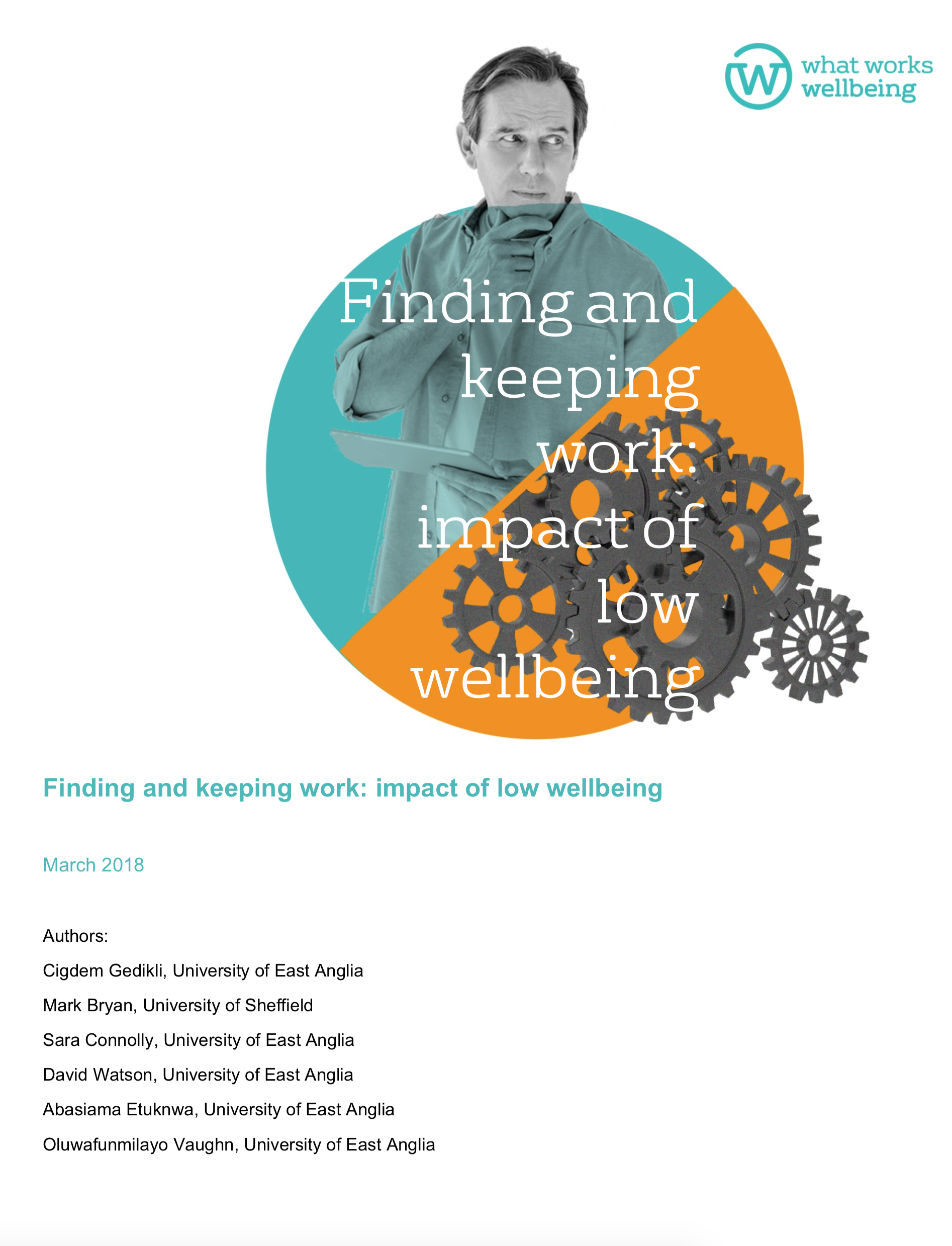 Finding and Keeping Work: impact of low wellbeing