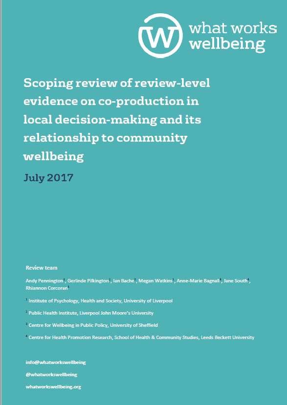 Scoping Review: Local Decision-Making and Community Wellbeing