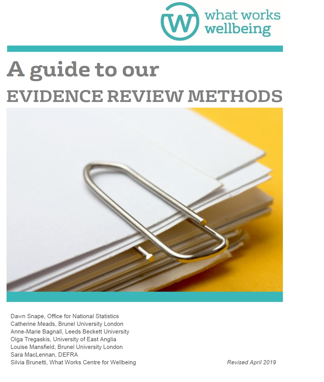 Updated: A Guide to our Evidence Review Methods