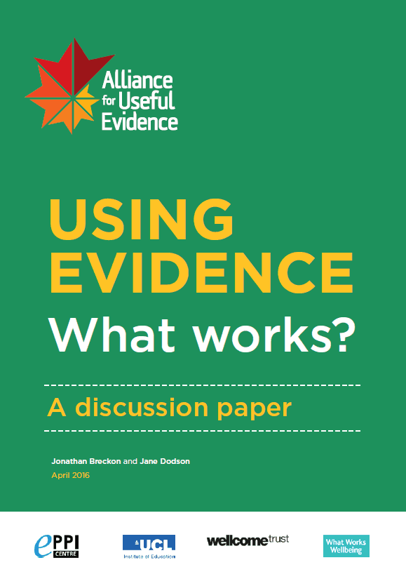 Using Evidence: What Works?