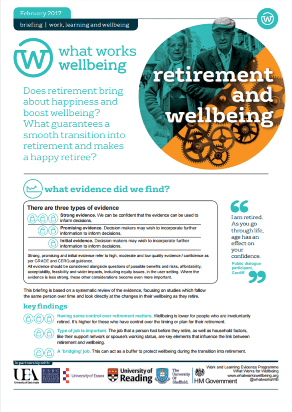 Retirement and Wellbeing
