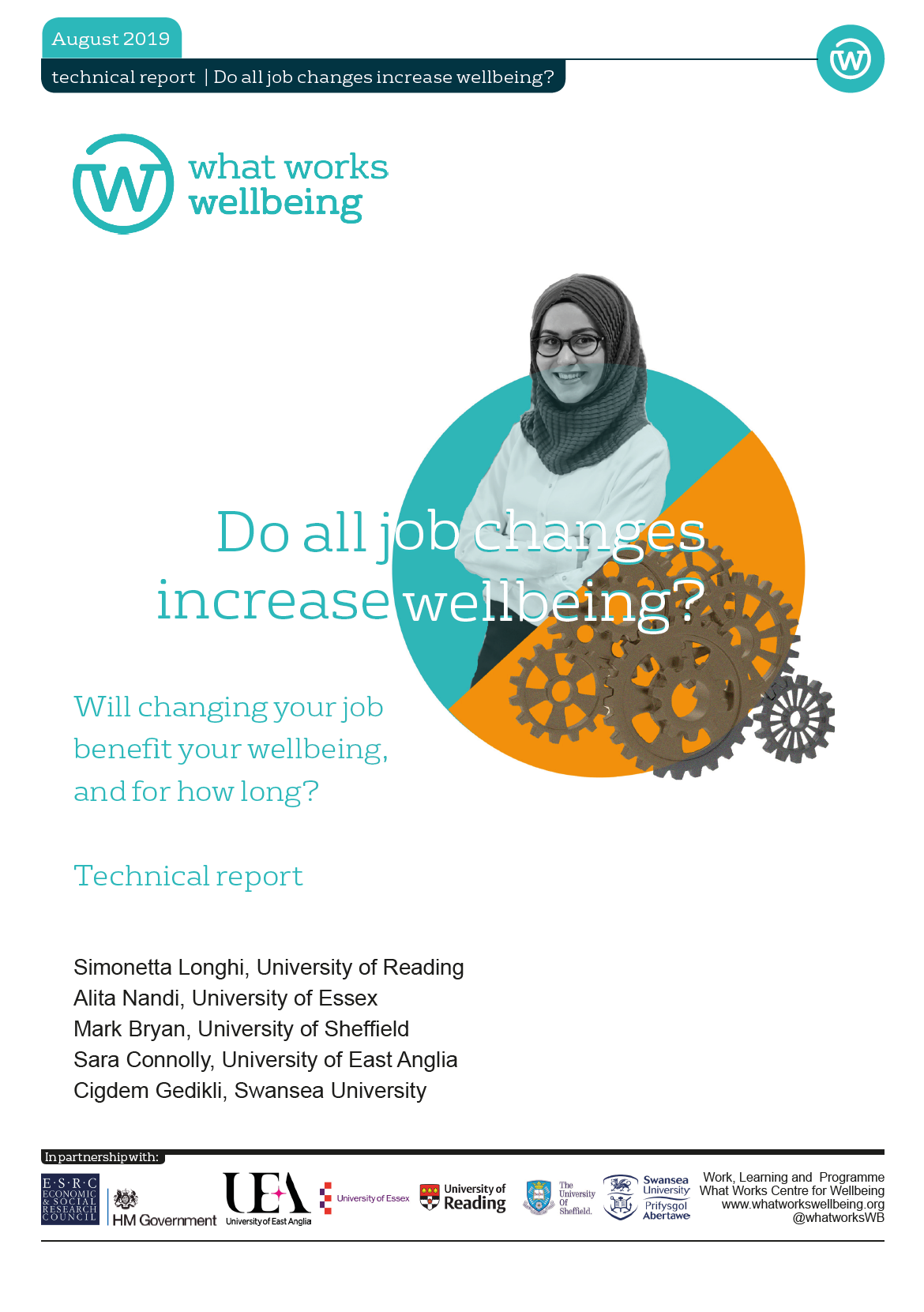 Do All Job Changes Increase Wellbeing? Technical Report