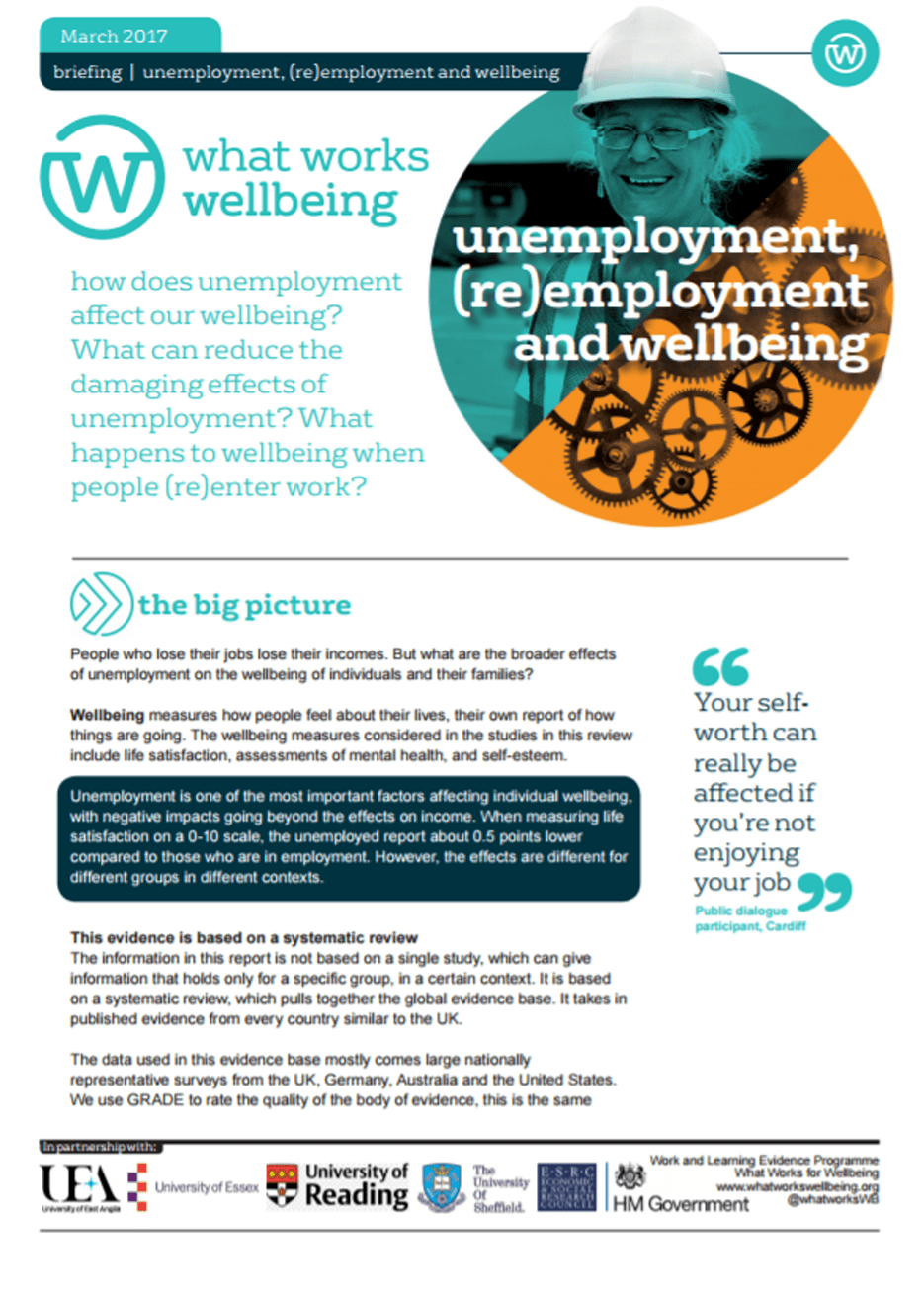 Unemployment, (Re)employment and Wellbeing